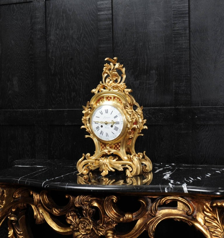 Fine Ormolu Rococo Clock by Henry Lepaute In Excellent Condition For Sale In Belper, Derbyshire