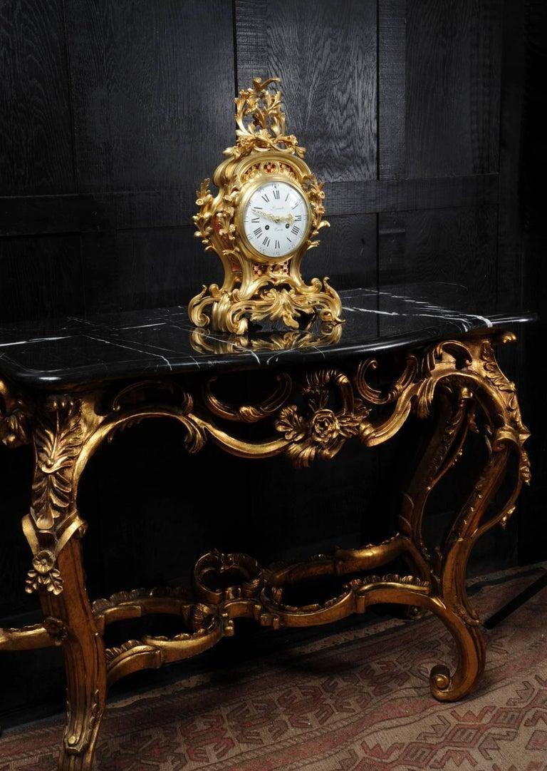 19th Century Fine Ormolu Rococo Clock by Henry Lepaute For Sale