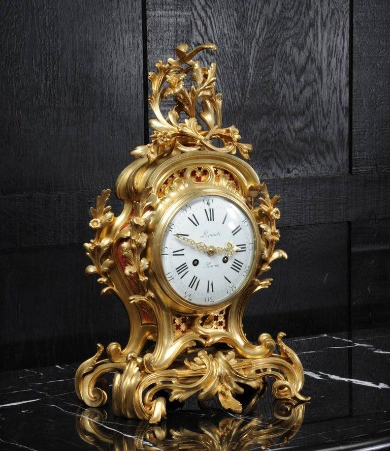Fine Ormolu Rococo Clock by Henry Lepaute For Sale 1