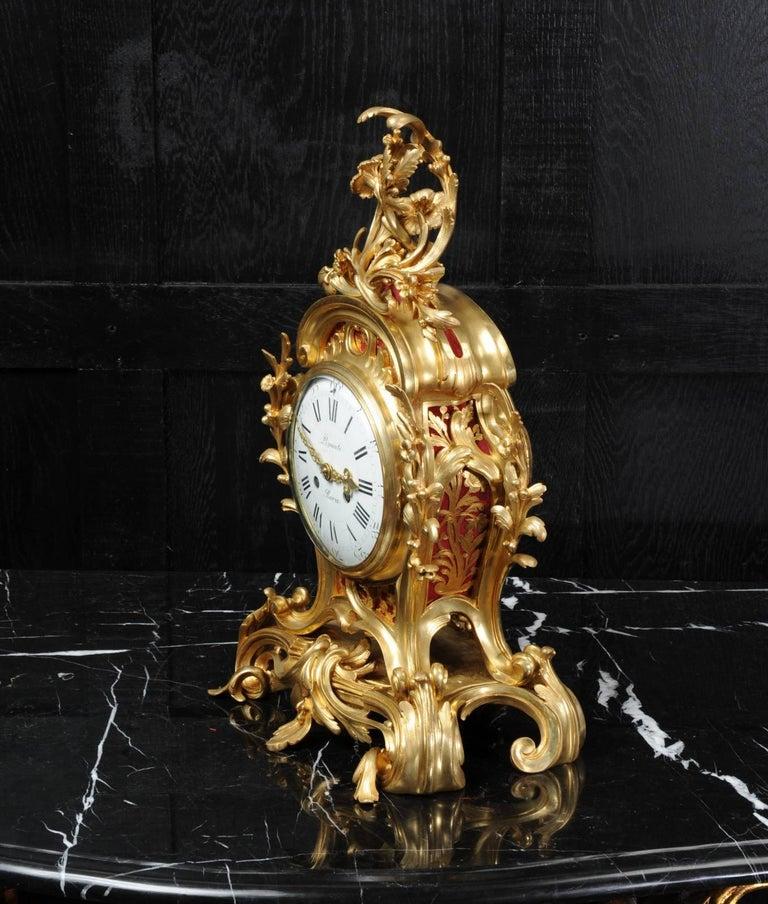 Fine Ormolu Rococo Clock by Henry Lepaute For Sale 3