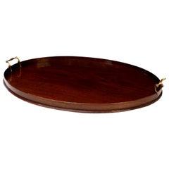 Fine Oval Shape Georgian Mahogany Tray