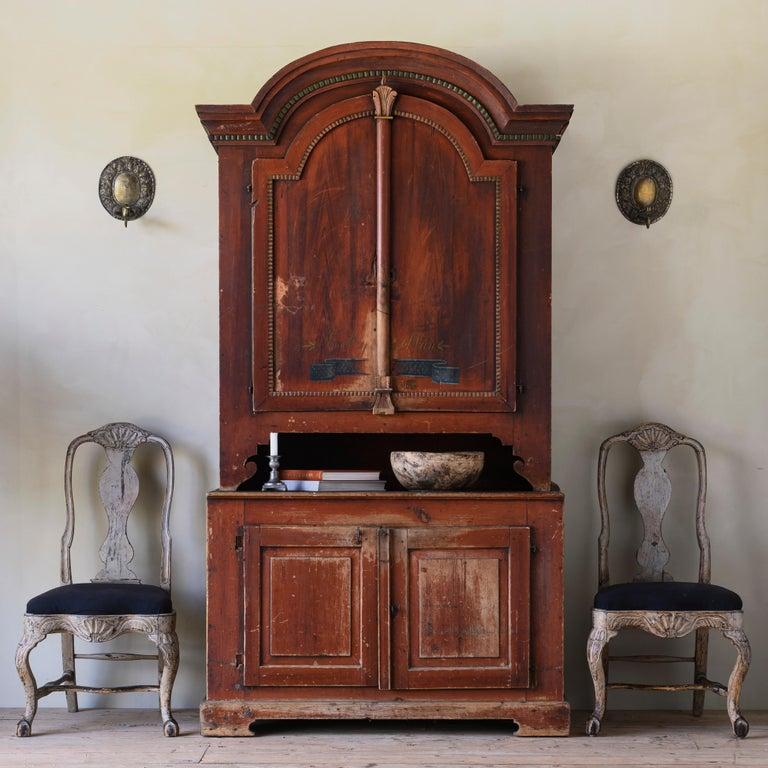 European Fine Pair of 18th Century Swedish Rococo Chairs