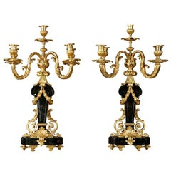 Fine Pair of 19th Century Candelabra