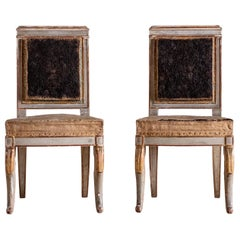 Fine Pair of 19th Century French Empire Side Chairs