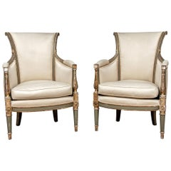Fine Pair of 19th Century Gustavian Style Armchairs