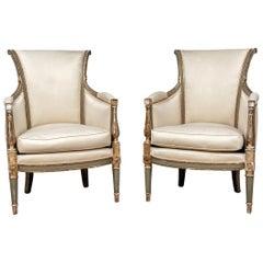 Fine Pair of 19th Century Gustavian Style Armchairs