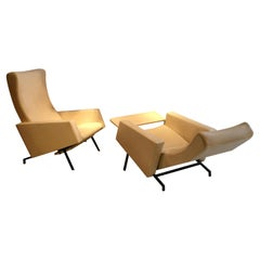 Fine Pair of Adjustable Trelax Chairs by Pierre Guariche, France, 1961