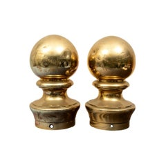 Fine Pair of Antique Nautical Brass Bollards