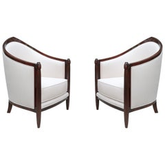 Fine Pair of Art Deco Bergères