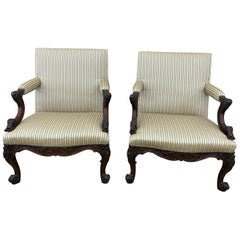 Fine Pair of Early 19th Century Georgian Mahogany Gainsborough Chairs
