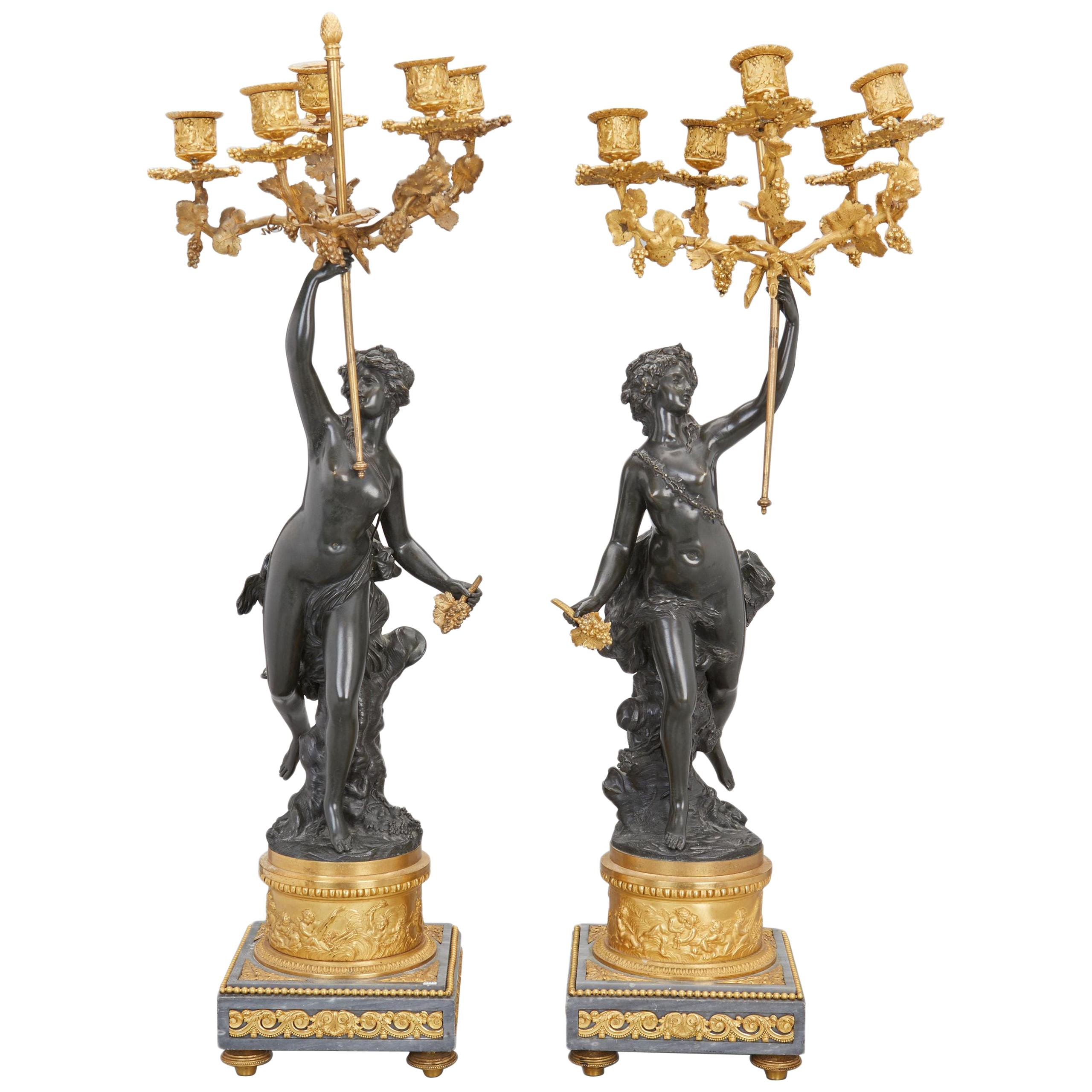 Fine Pair of French 19th Century Candelabrum