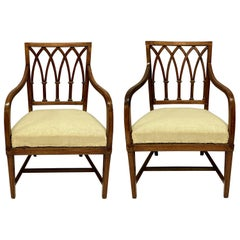 Fine Pair of George III Gothic Armchairs