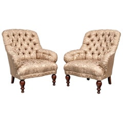 Fine Pair of Henredon Historic Natchez Collection Club Chairs