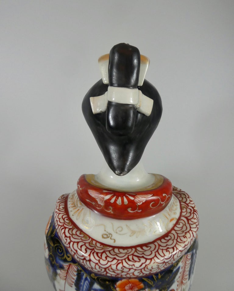 Fine Pair of Imari Porcelain Bijin, circa 1690, Genroku Period For Sale 3