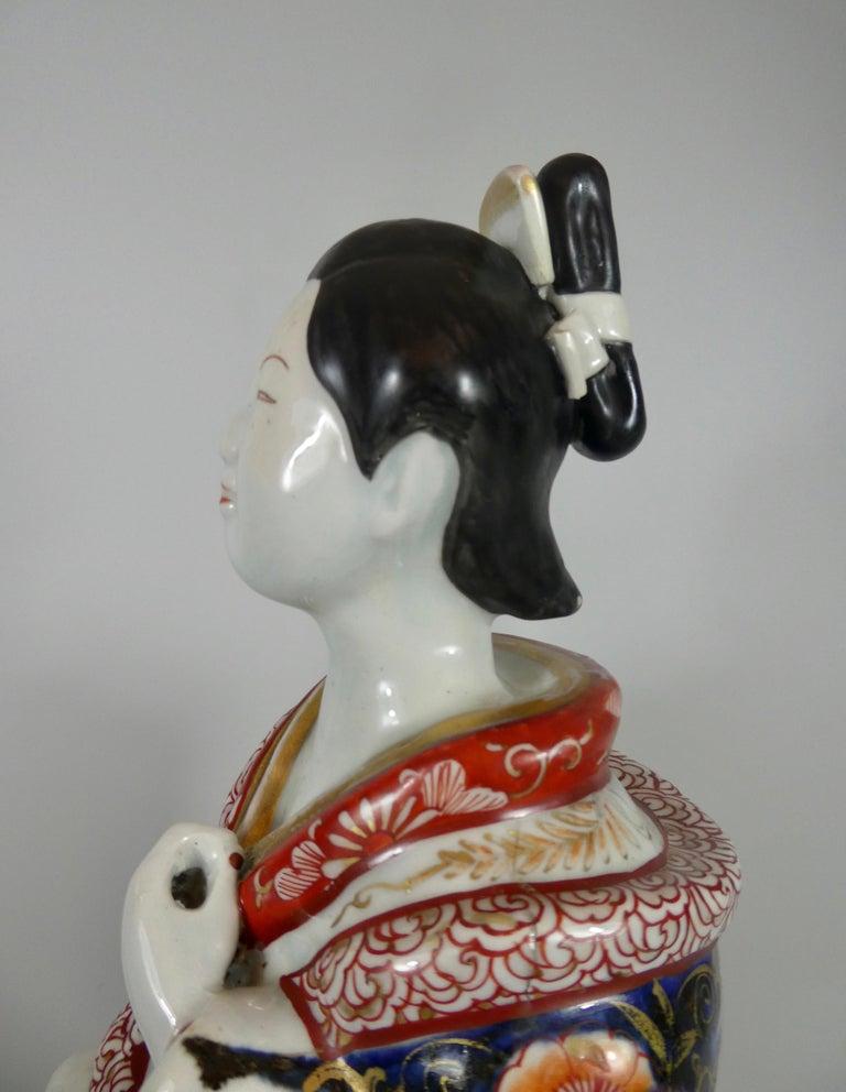 Fine Pair of Imari Porcelain Bijin, circa 1690, Genroku Period For Sale 5