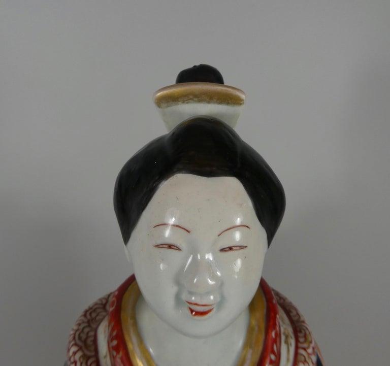 Fine Pair of Imari Porcelain Bijin, circa 1690, Genroku Period For Sale 9