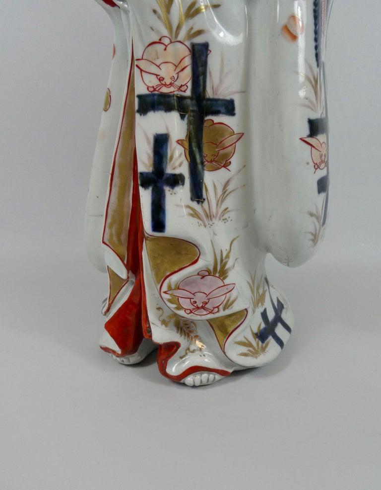 Fine Pair of Imari Porcelain Bijin, circa 1690, Genroku Period For Sale 13