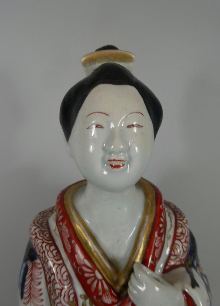 Edo Fine Pair of Imari Porcelain Bijin, circa 1690, Genroku Period For Sale