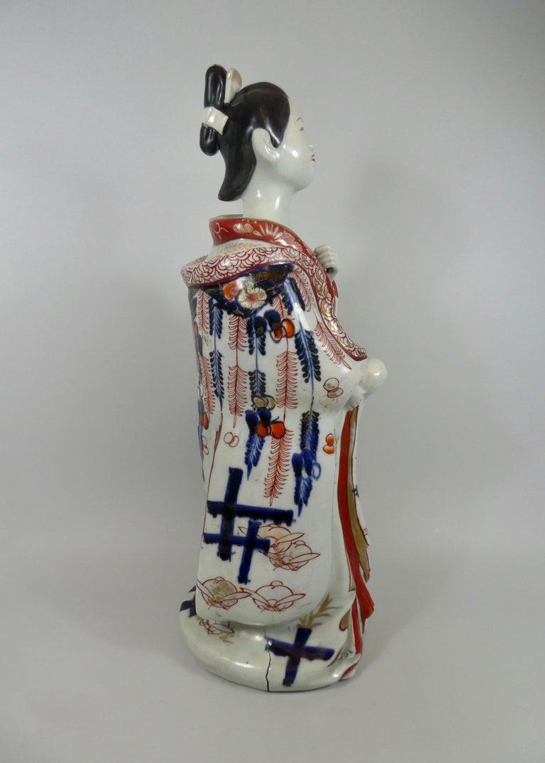 Fired Fine Pair of Imari Porcelain Bijin, circa 1690, Genroku Period For Sale