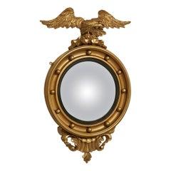 Fine Pair of Irish 19th Century Gilt Convex Mirrors