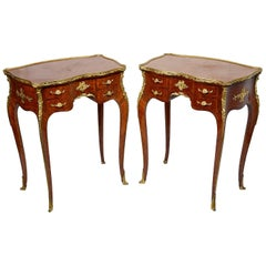 Fine Pair of Late 19th Century French, Linke Style Side Tables