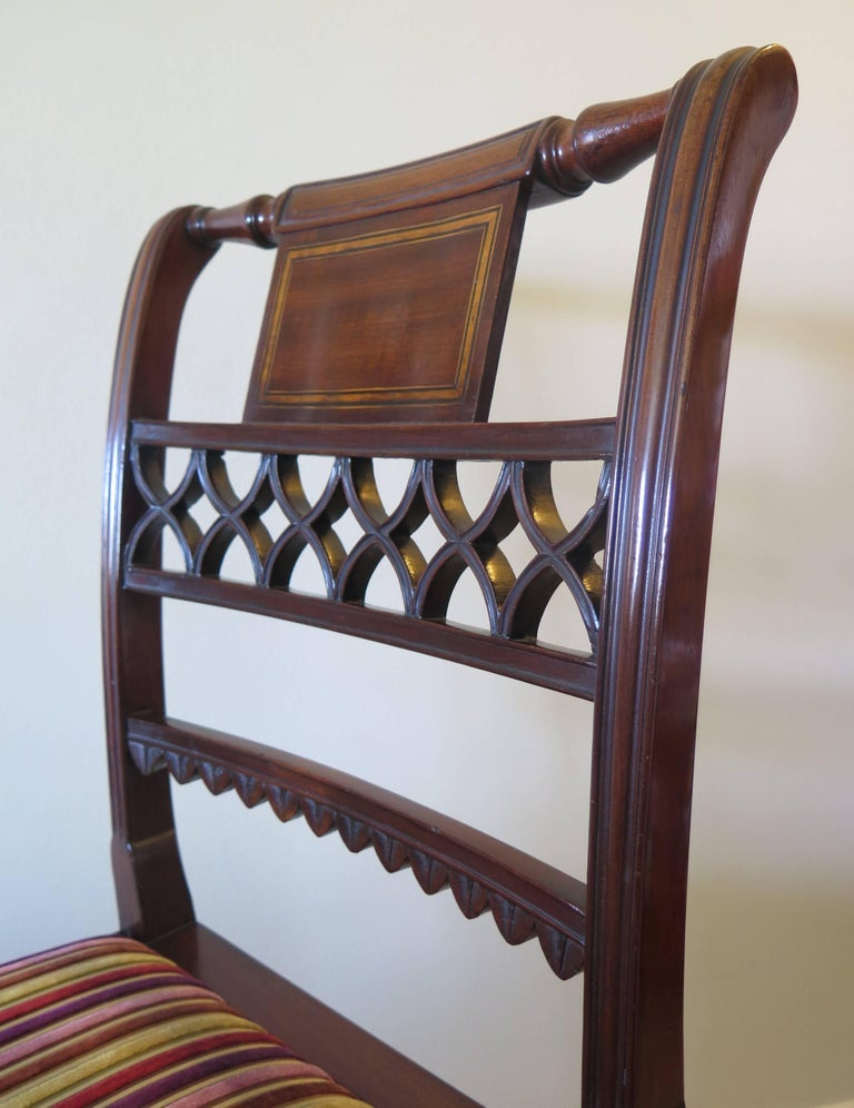 Fine Pair of Mahogany Dining Chairs, English George III Sheraton Period For Sale 3