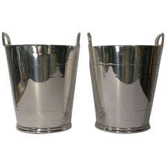 Fine Pair of Mappin & Webb Silver Plated Wine Coolers / Champagne Buckets