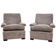 Fine Pair of Midcentury Style Club Chairs