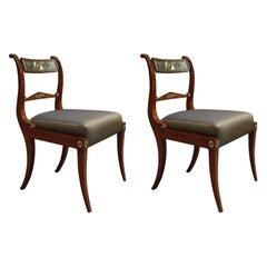 Fine Pair of Neoclassical Side Chairs