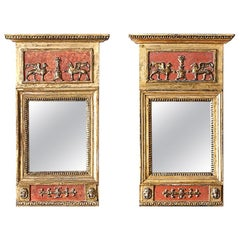 Fine Pair of Swedish 19th Century Empire Mirrors