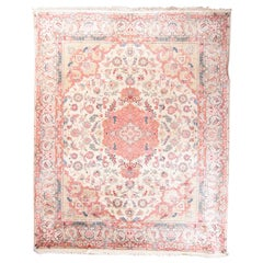 Fine Pak Persian Tabriz Design Rug, Wool and Silk, Hand Knotted