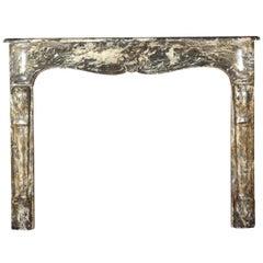 Fine Parisian Original Antique Fireplace Surround in Grey Belgian Marble