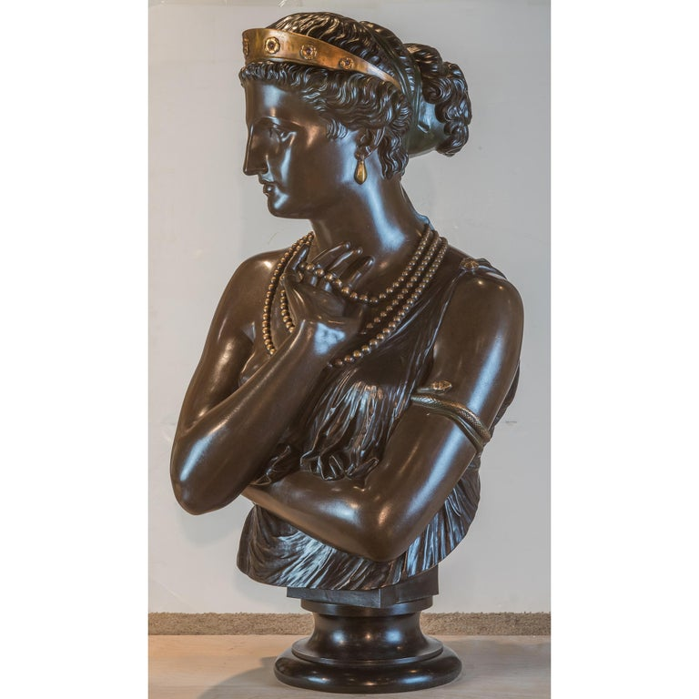 Signed 'J. CLESINGER / ROME / 1860.' and with foundry inscription 'F. BARBEDIENNE. FONDEUR'  Maker: Jean-Baptiste Clésinger (1814-1883) Origin: French Date: 19th century Dimension: 30 3/4 in. x 17 in.