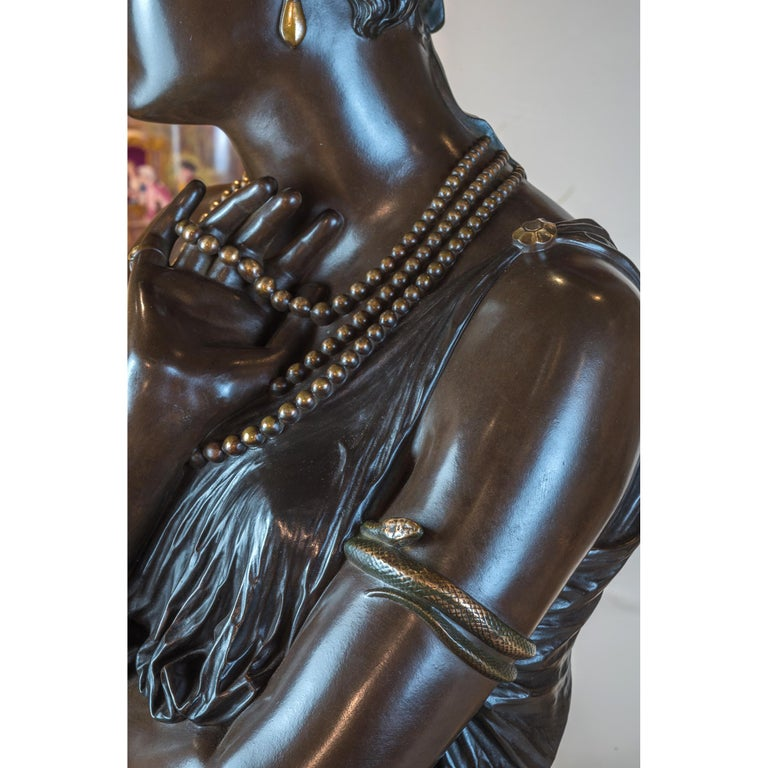 19th Century Fine Patinated Bronze Bust of Helen of Troy by Clésinger For Sale