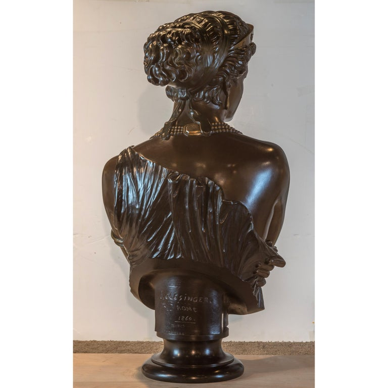 Fine Patinated Bronze Bust of Helen of Troy by Clésinger For Sale 2