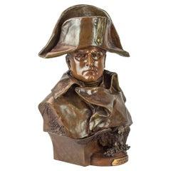 Fine Patinated Bronze Bust of Napoleon Bonaparte by Renzo Colombo