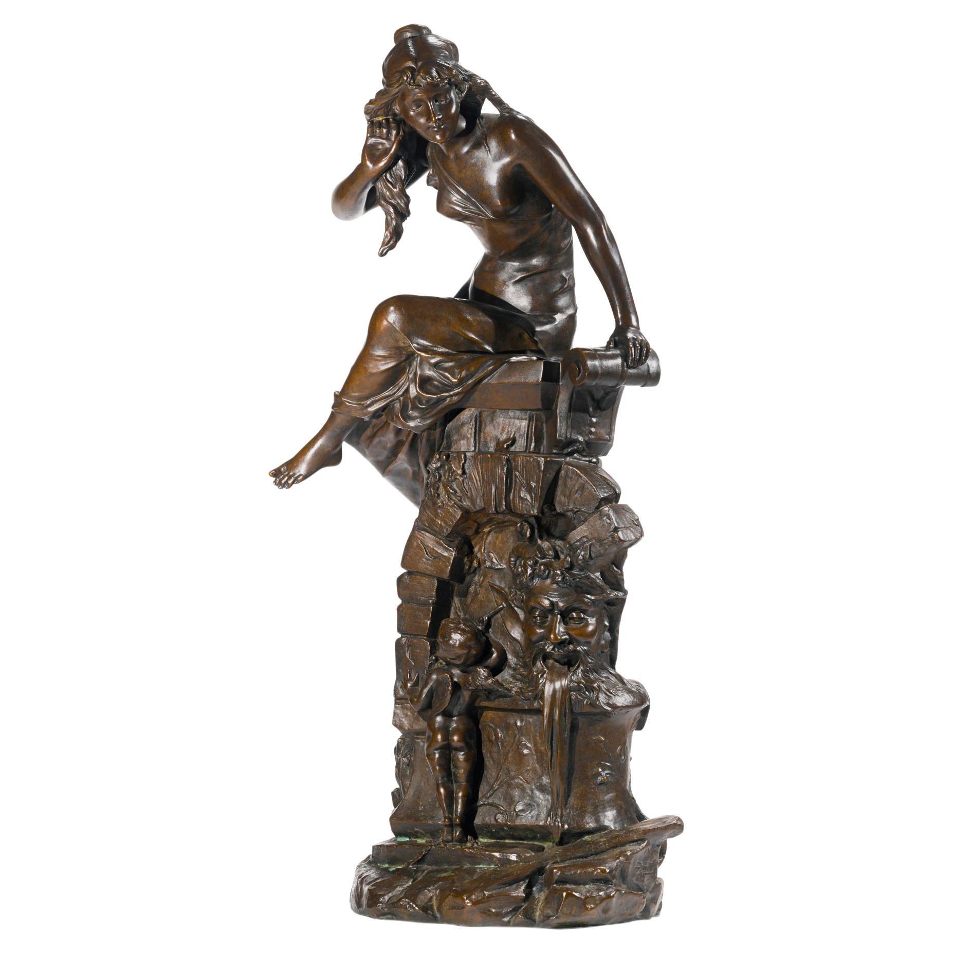 Fine Patinated Bronze Sculpture by Édouard Drouot