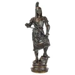 Fine Patinated Bronze Sculpture of a Manchu Tartar by Barye