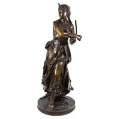 Fine Patinated Bronze Sculpture of an Egyptian Dancer by Alexandre Falguiere