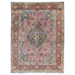 Fine Persian Tabriz Rug with Layered Medallion