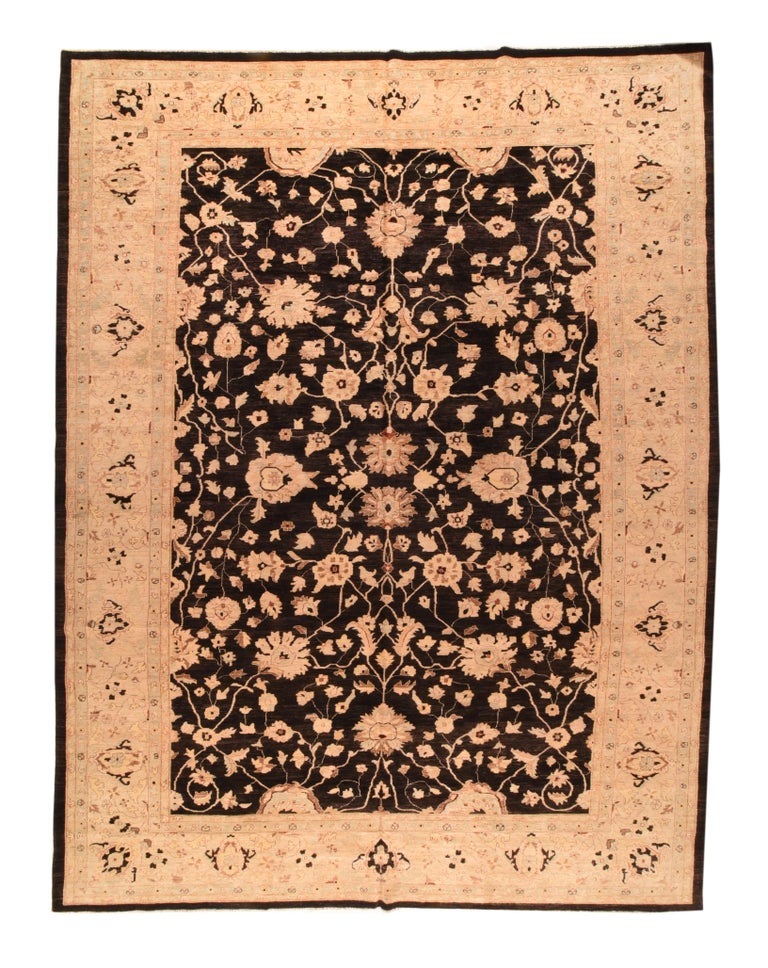 Fine Peshawar Pakistani Rug, Hand Knotted In New Condition For Sale In Chevy Chase, MD