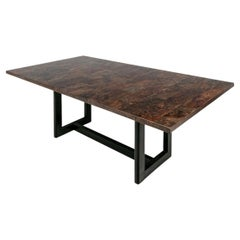 Fine Pieced Burl Top Dining/ Work Table