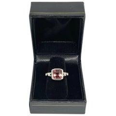 Fine Pink Tourmaline Diamond 14 Karat 2.05 Carat Ladies Ring Certified