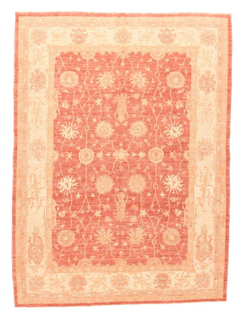 Hand-Knotted Fine Pishawar Pakistan Rug, Hand Knotted For Sale