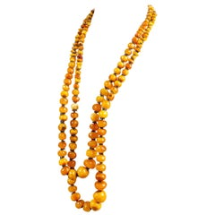 Fine polished Amber Rope Necklace
