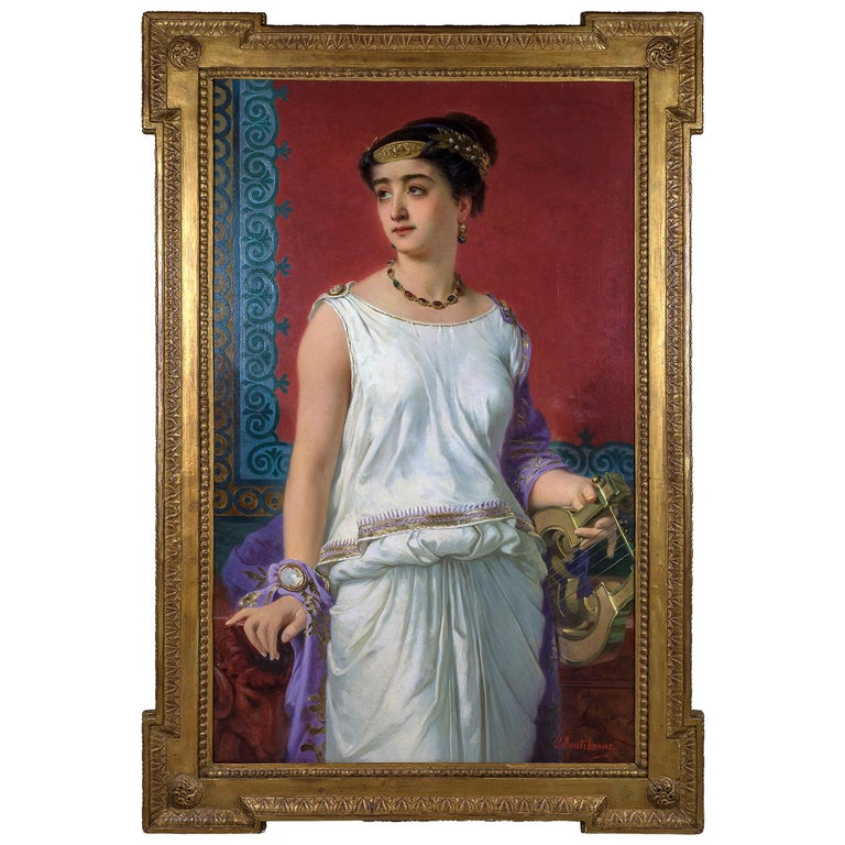 Fine Portrait of a Young Grecian Beauty For Sale