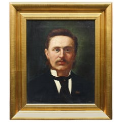 Fine Portrait Oil on Canvas by George Harris '1855-1936'