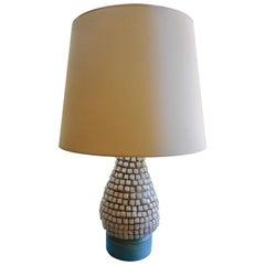 Fine Pyramide Ceramic Lamp,France 1950