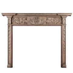 Fine Quality 18th Century Carved Wood Mantelpiece / Fireplace