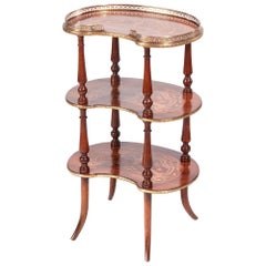 Fine Quality 19th Century French Antique Marquetry Étagère
